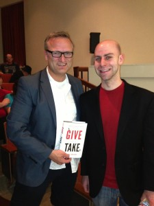 With Adam Grant at Cal Tech